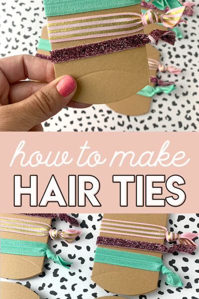 DIY Fold Over Elastic Hair Ties – Tutorial
