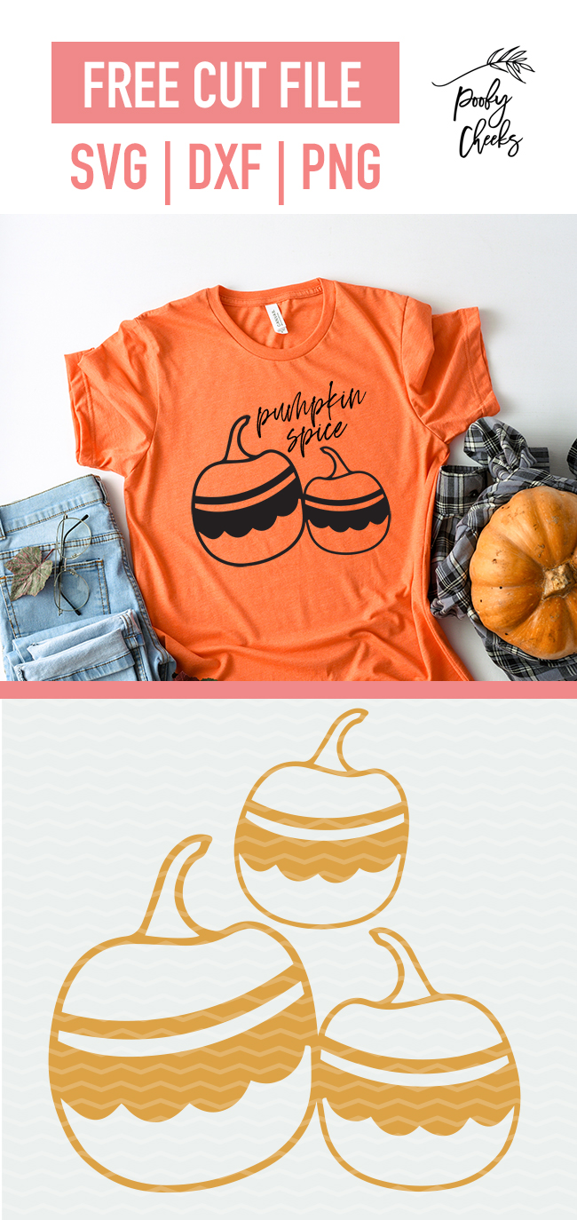 Fun Pumpkin Cut File Svg Dxf And Png For Silhouette And Cricut