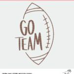 Go Team Football Cut File