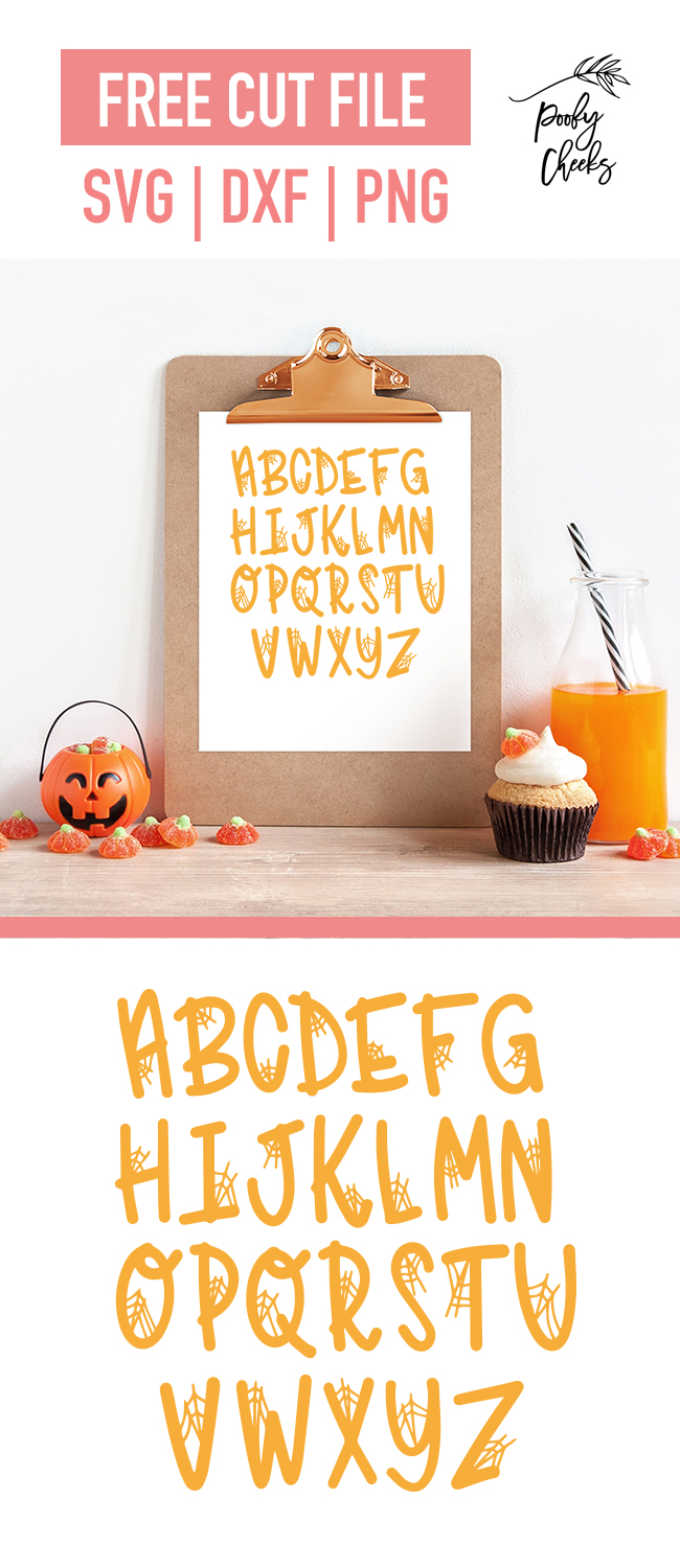 Spider Web Alphabet Cut File Svg Dxf Png For Cricut And Silhouette