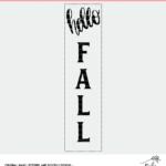 Hello Fall Cut File Digital Design